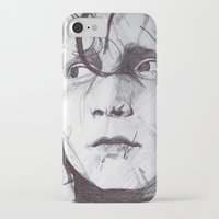 edward scissorhands iPhone & iPod Cases featuring Edward Scissorhands   by DeMoose_Art