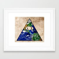 all seeing eye Framed Art Prints featuring All Seeing Eye by Spooky Dooky