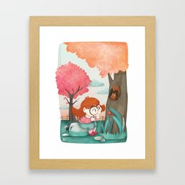 Giadina and the magnifying glass Framed Art Print