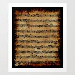 Grunge Sheet Music Music-lover's Design Art Print