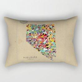 Nevada state map Rectangular Pillow