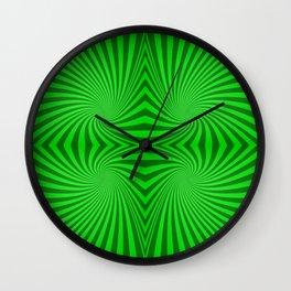 Green swirls Wall Clock