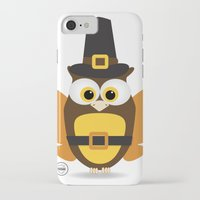 thanksgiving iPhone & iPod Cases featuring Owl Thanksgiving by Yatasi