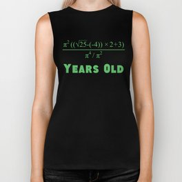 21 Years Old Algebra Equation 21st Birthday Biker Tank