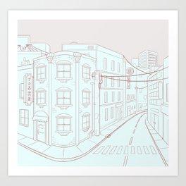 street corner Art Print