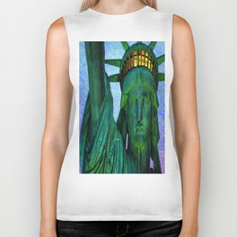 Statue of Liberty 4th of July tribute Biker Tank