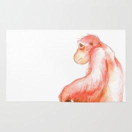 Elka, Orangutan Watercolor Rug