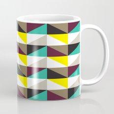 Yellow, purple, turquoise triangle pattern Mug