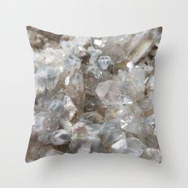 Phantom Crystal Cluster Throw Pillow