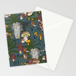 mushroom forest Stationery Cards