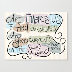Art Enables Us Canvas Print