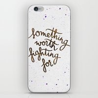 snape iPhone & iPod Skins featuring Something worth fighting for by Earthlightened