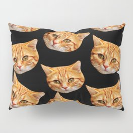 cute black and orange cat pattern Pillow Sham