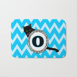 Letter O Cat Monogram Bath Mat
