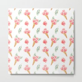 Floral Chill Rose Metal Print