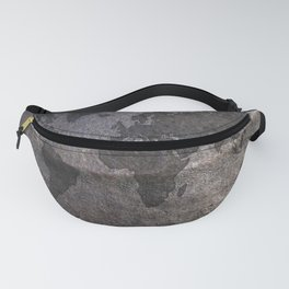 Gray metal - Organic World Map Series Fanny Pack