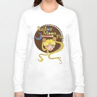 pie Long Sleeve T-shirts featuring Moon Pie by Ashley Hay