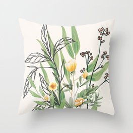 Spring Garden I Throw Pillow
