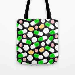 Deadly Pills Pattern Tote Bag