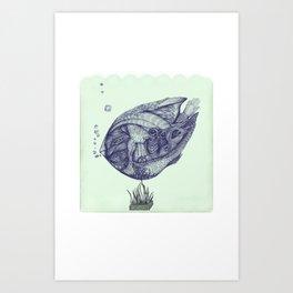 Floating Fish Art Print
