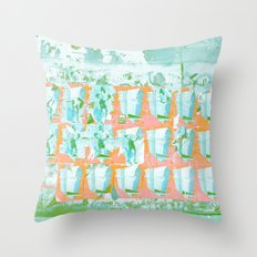 WALL PAPER NYC Throw Pillow
