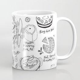 Pies and Tarts Illustrated Alphabet Coffee Mug