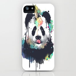 Ice cream pandacorn iPhone Case
