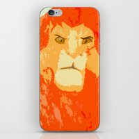 simba iPhone & iPod Skins featuring Simba by Makayla Wilkerson
