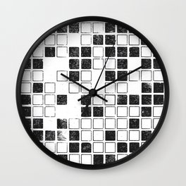 Square Grid Wall Clock