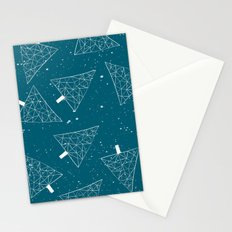 Christmas Trees Teal Stationery Cards
