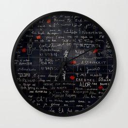 """""""I love you"""" Wall Wall Clock"""