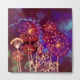 dandelions in the storm Metal Print