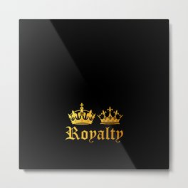 Royal King & Queen Metal Print