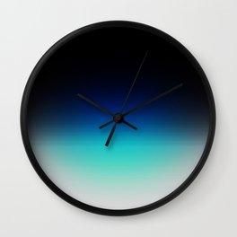 Blue Gray Black Ombre Wall Clock