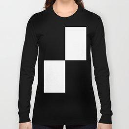 Black and White Squares MINIMALIST DESIGN Long Sleeve T-shirt