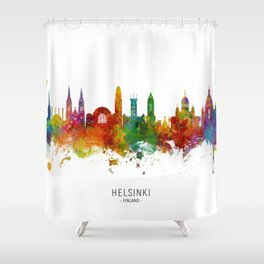 Helsinki Finland Skyline Shower Curtain