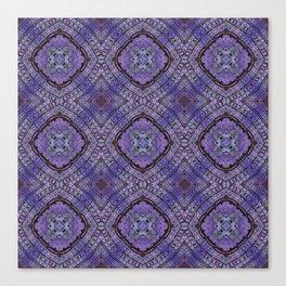 Purple Zen Doodle Pattern Canvas Print