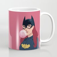 batgirl Mugs featuring Batgirl  by Fleur Sciortino