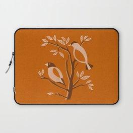 Burnt Orange Mid Century Birds On Branches Laptop Sleeve