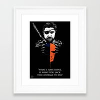 deathstroke Framed Art Prints featuring What I Have Done by Spicy Monocle