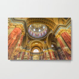 St Stephen's Cathedral Budapest Metal Print