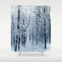 Winter wonderland scenery forest  Shower Curtain