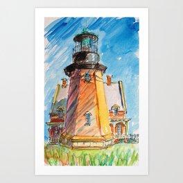 South East Lighthouse, Block Island, Rhode island Art Print