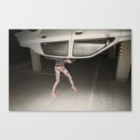 grand theft auto Canvas Prints featuring Grand Theft Auto by Linas Vaitonis