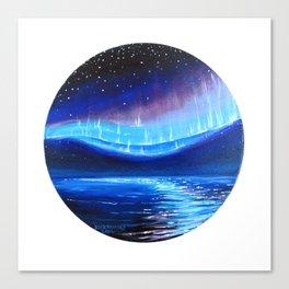 Aurora Over Ocean Canvas Print