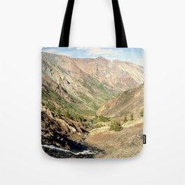 Lundy Canyon Mountains Tote Bag