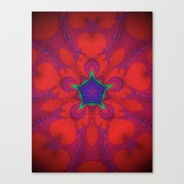 flor roja 2 Canvas Print