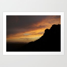 Gates Pass Sunset Art Print