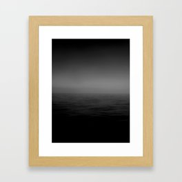 Grey Horizon Framed Art Print