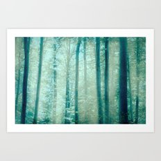 into the woods 15 Art Print